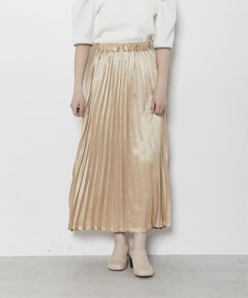 OLIVE des OLIVE OUTLET(オリーブ・デ・オリーブ アウトレット) ドビーアコーディオンプリーツスカート
