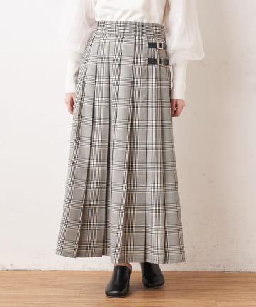 OLIVE des OLIVE OUTLET(オリーブ・デ・オリーブ アウトレット) チェックプリーツキルトスカート