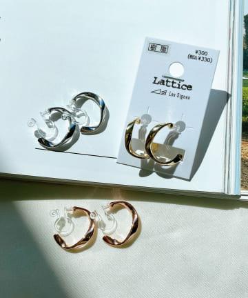 Lattice(ラティス) ニュアンスフープ樹脂イヤリング