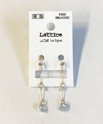 Lattice(ラティス) ビジュー下がり樹脂イヤリング