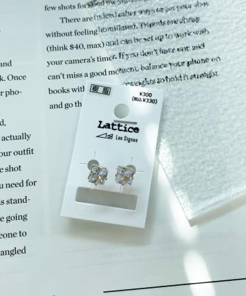 Lattice(ラティス) スクエアビジュー樹脂イヤリング