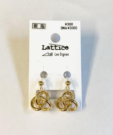 Lattice(ラティス) メタルデザイン樹脂イヤリング