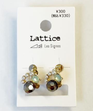 Lattice(ラティス) ビジューイヤリング
