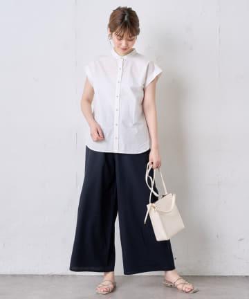natural couture(ナチュラルクチュール) シンプルリネンリラックスパンツ
