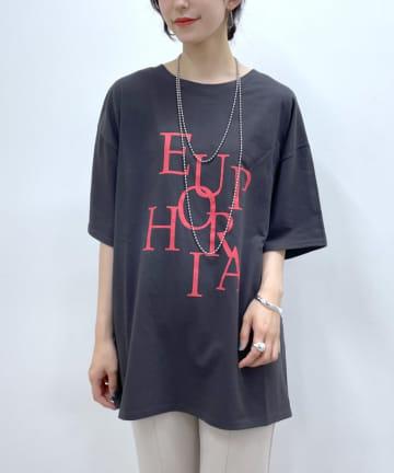 Loungedress(ラウンジドレス) ランダムロゴTシャツ