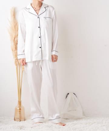 TERRITOIRE(テリトワール) 【TERRITOIREプレミアム】LADIESシルクタッチサテンパジャマ