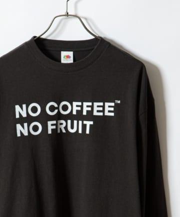 CIAOPANIC(チャオパニック) 【FRUIT OF THE LOOM/フルーツオブザルーム】別注NO COFFEE × FRUIT OF THE LOOM プリントロングスリーブTシャツ