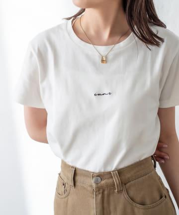 mystic(ミスティック) ポイント刺繍Tシャツ