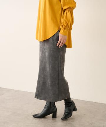 Lui's(ルイス) フェイクスエードタイトスカート