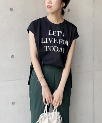 CAPRICIEUX LE'MAGE(カプリシュレマージュ) フレンチメッセージTシャツ