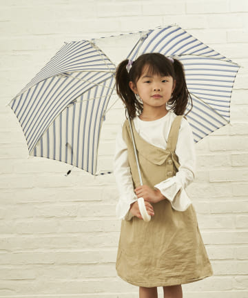 salut!(サリュ) キッズ雨傘バイアス(ネイビー)