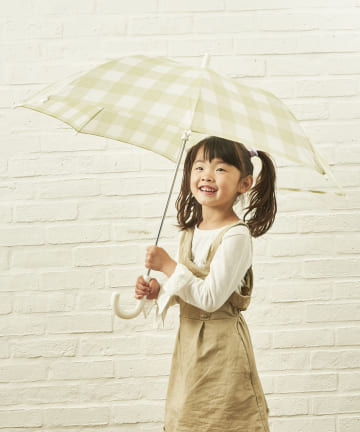 salut!(サリュ) キッズ雨傘グレンチェック(イエロー)