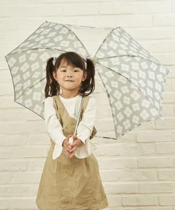 salut!(サリュ) キッズ雨傘おはな(ブルー)