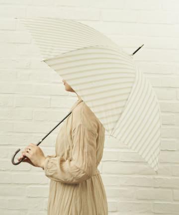 salut!(サリュ) 雨傘長バイアス(ベージュ)