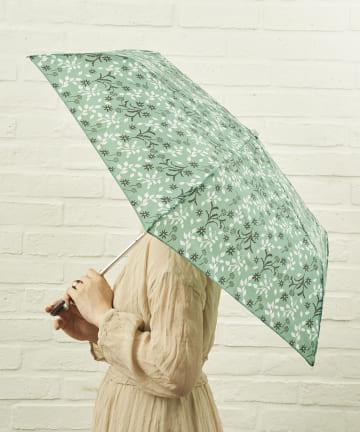 salut!(サリュ) 雨傘折フラワー(グリーン)