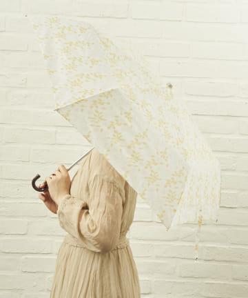 salut!(サリュ) 雨傘折フラワー(アイボリー)