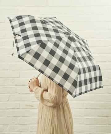 salut!(サリュ) 雨傘折グレンチェック(ブラック)