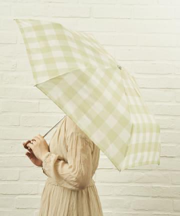salut!(サリュ) 雨傘折グレンチェック(イエロー)