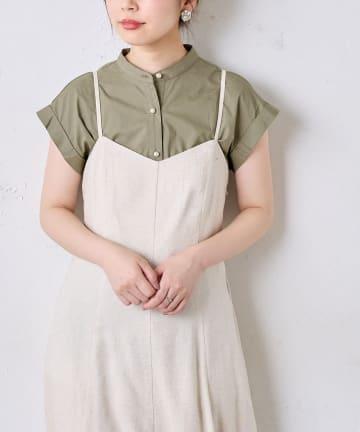 natural couture(ナチュラルクチュール) 大人なパール釦ブラウス