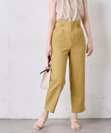 natural couture(ナチュラルクチュール) おしゃれタック楊柳パンツ
