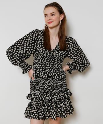 Seemi.by NICE CLAUP(シーミーバイナイスクラップ) シャーリングスカート