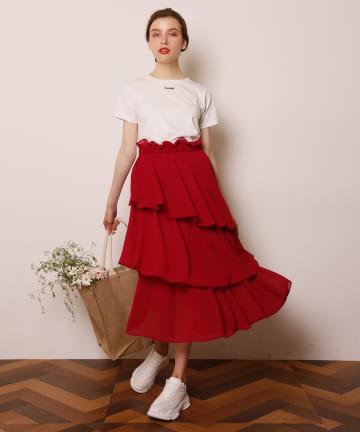 Seemi.by NICE CLAUP(シーミーバイナイスクラップ) ティアードスカート