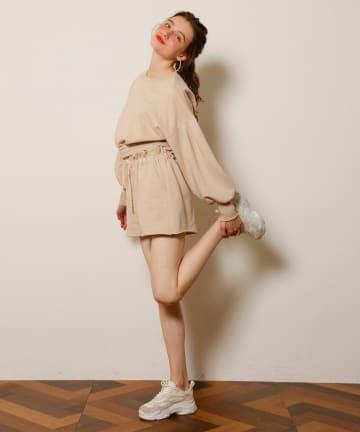 Seemi.by NICE CLAUP(シーミーバイナイスクラップ) 裏毛ショートパンツ