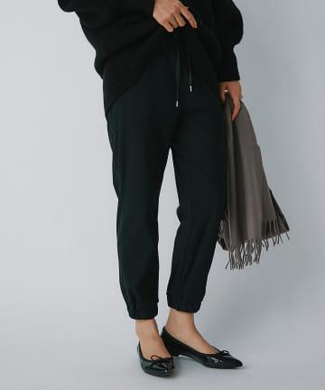 La boutique BonBon(ラブティックボンボン) 【穿くだけでトレンド・手洗い可】ドロストジョガーパンツ