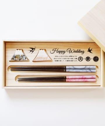 BIRTHDAY BAR(バースデイバー) 夫婦箸&箸置きセット