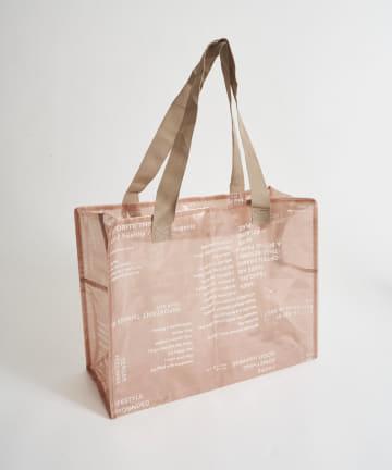 3COINS(スリーコインズ) クリアボックスバッグ:Lサイズ