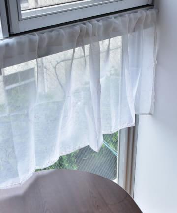 3COINS(スリーコインズ) 【機能性で選ぶ】抗菌カフェカーテン