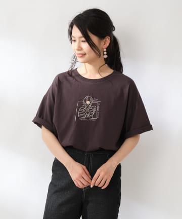 OLIVE des OLIVE OUTLET(オリーブ・デ・オリーブ アウトレット) アソート女の子刺繍Tシャツ