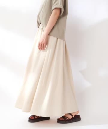 OLIVE des OLIVE OUTLET(オリーブ・デ・オリーブ アウトレット) 【Unconditional】リネンギャザースカート