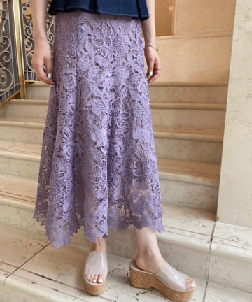 one after another NICE CLAUP(ワンアフターアナザー ナイスクラップ) 【Cherie chuu】lace mermaid skirt