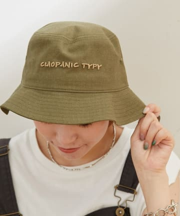 CIAOPANIC TYPY(チャオパニックティピー) 綿麻TP刺繍バケットハット