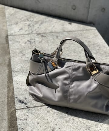 RIVE DROITE(リヴドロワ) 【定番人気のバッグ新色が登場】A4ナイロン2wayバンブーバッグ