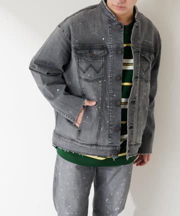 Discoat(ディスコート) 【Wrangler/ラングラー】 別注ペイントデニムリメイクジャケット