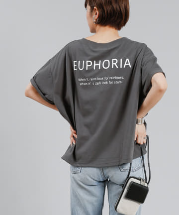 DOUDOU(ドゥドゥ) 【WEB限定】バックプリントロゴT