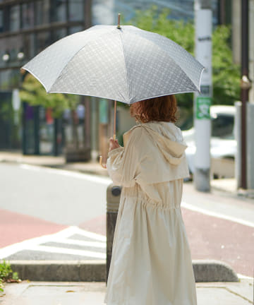 Daily russet(デイリー ラシット) 【晴雨兼用】モノグラム長傘