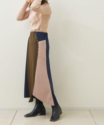 Jena espace merveilleux(ジェナ エスパスメルヴェイユ) リベット切替ボンディングスカート