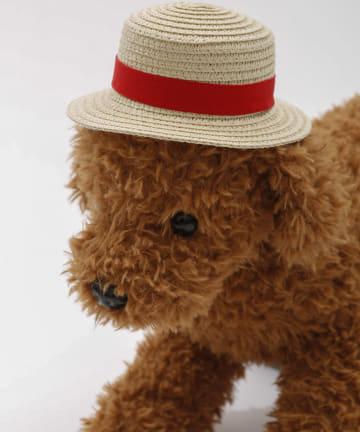 3COINS(スリーコインズ) 【季節を楽しむ着せ替えグッズ】ペット用ハット:レッド
