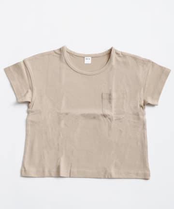 3COINS(スリーコインズ) 【おめかし】ポケット付きTシャツ:100cm