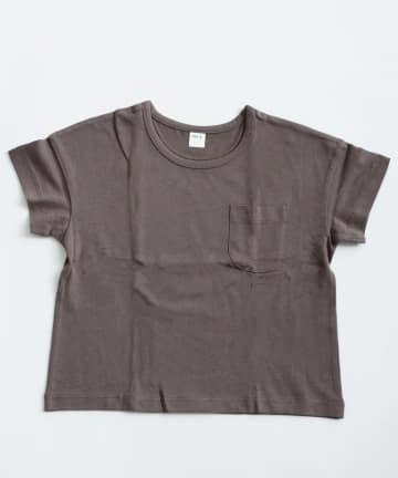 3COINS(スリーコインズ) 【おめかし】ポケット付きTシャツ:110cm