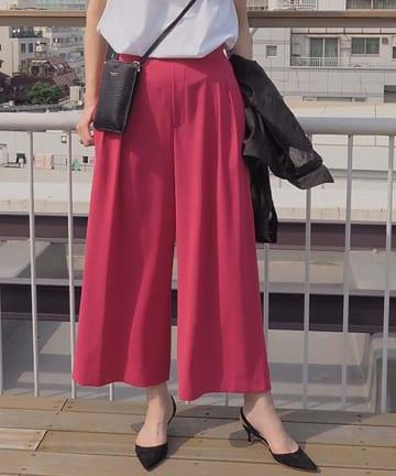 OUVRAGE CLASSE(ウヴラージュクラス) カラーワイドパンツ【オンライン限定販売】