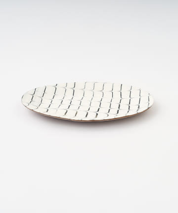 LIVETART(リヴェタート) 《つくも窯》楕円皿リム
