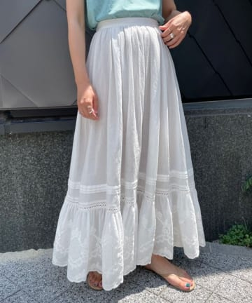 SHENERY(シーナリー) ヴィンテージライクレーススカート