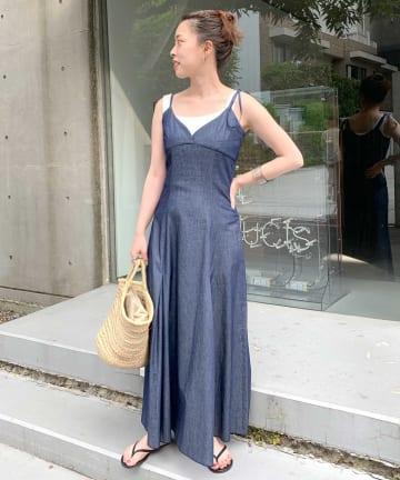 SHENERY(シーナリー) ダンガリーキャミドレス