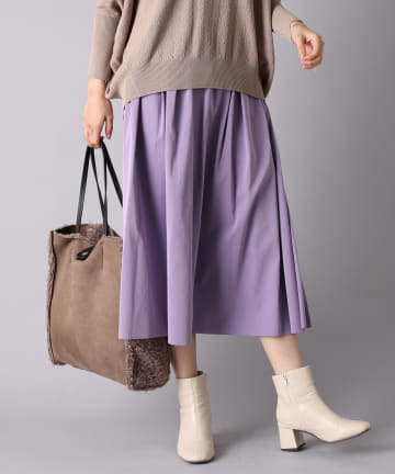 un dix cors(アンディコール) 《予約》【その日の気分で着まわせる】リバーシブルタフタギャザースカート