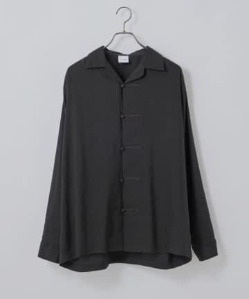 CIAOPANIC(チャオパニック) チャイナボタンデザインオープンカラーシャツ