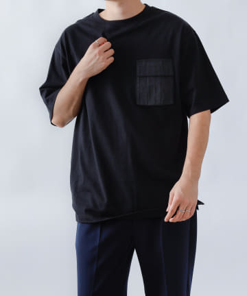 COLONY 2139(コロニー トゥーワンスリーナイン) 20/-コットンデザインポケットTシャツ/ワークポケット半袖Tシャツ